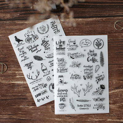ZFPARTY New Rub On Stickers For Scrapbooking DIY Projects/Photo Album/Card Making Crafts