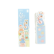 30pcs/lot kawaii cute rabbit blank paper bookmark message label best reading tool for office and school supplies 30pcs lot cute kawaii paper bookmark vintage japanese style book marks for kids school materials