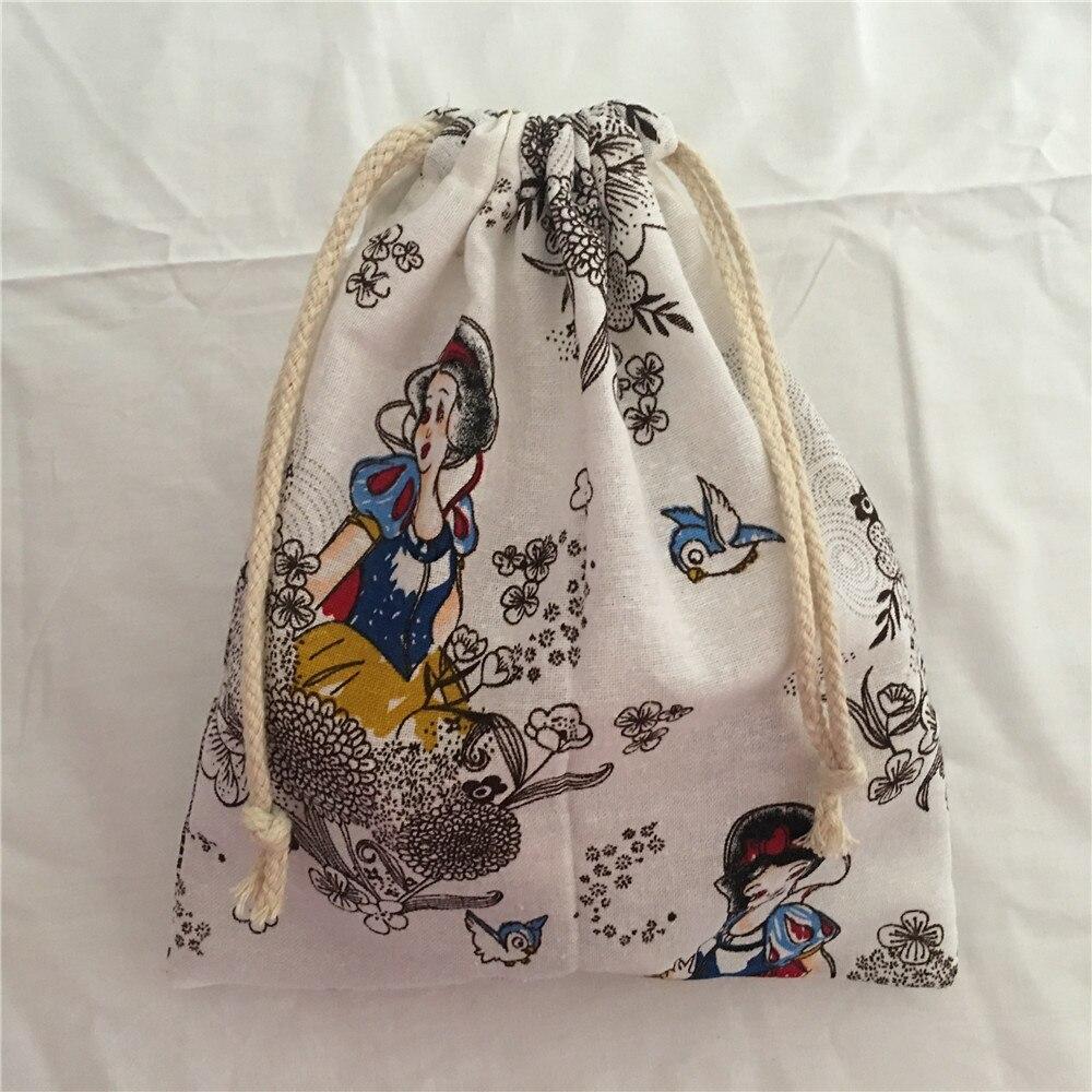 YILE 1pc Cotton Drawstring Bag Multi-purpose Organizer Pouch Party Gift Bag Cartoon Princess Girl 190111e