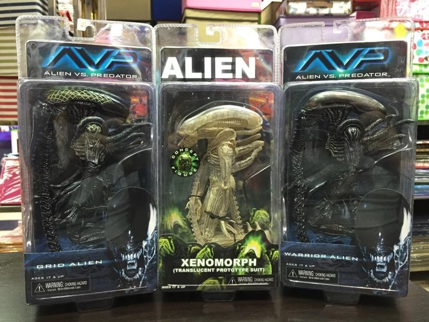 Alien VS. Predator Grid Alien Warrior Alien Xenomorph PVC Action Figure Collectible Model Toy 19cm KT1912 alien figure 018 alien queen xenomorph 18cm pvc action figures doll toys