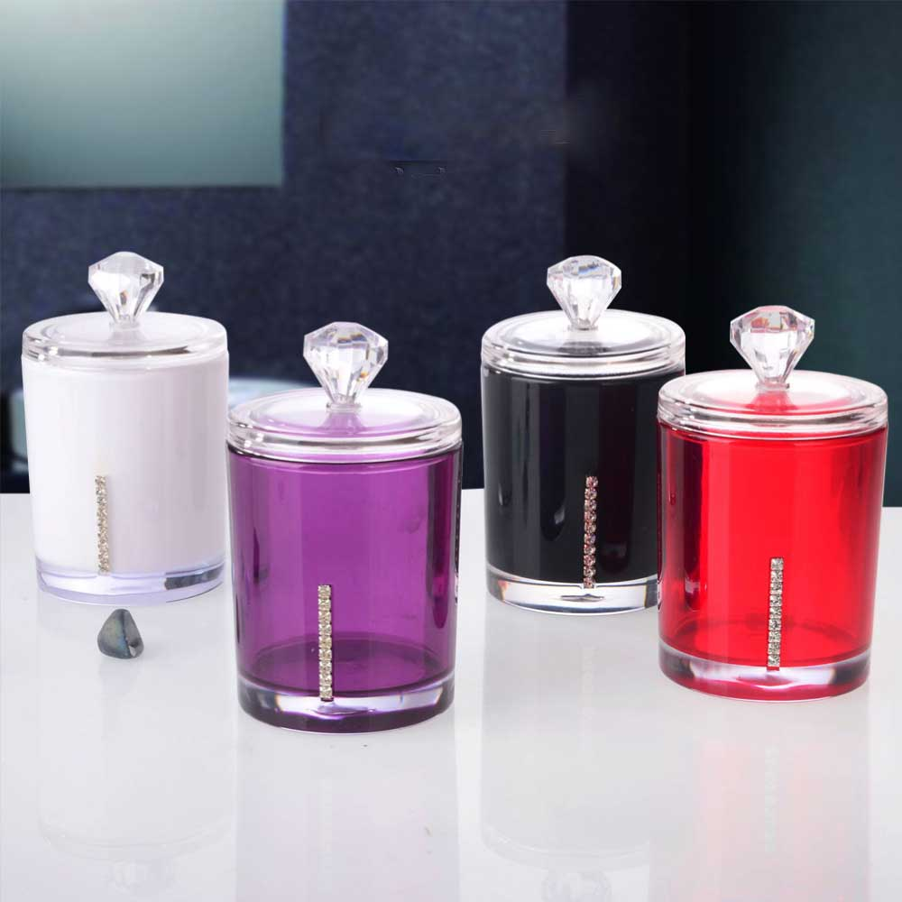 Hot 1Pcs Clear Acrylic Multi-function Cotton Swab Toothpick Storage Boxes Holder Cosmetic Organizer EA838 ...