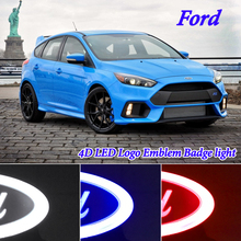 4D car styling led Logo Emblem Badge Light for Ford focus 2 3 focus mk1 mk2 mk3 Kuga Fusion Mondeo Fiesta Escape Ranger Galaxy