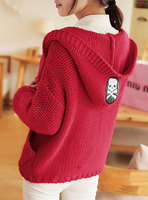 Autumn And Winter Personality Women S Small Fresh Vintage Sweater Skull Cardigan Sweater Top