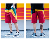 Men's Casual Sports Shorts Beach Surf Trunks, Street Fashion Hip Hop Shorts for Adolescents and Young Boys, Loose Fit