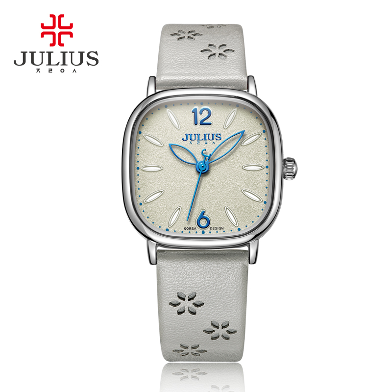 New Lady Women's Watch Japan Quartz Square Elegant Fashion Simple Hours Dress Bracelet Leather Girl Birthday Gift Julius Box top julius lady women s watch japan quartz elegant rhinestone large number fashion hours dress bracelet leather big girl gift