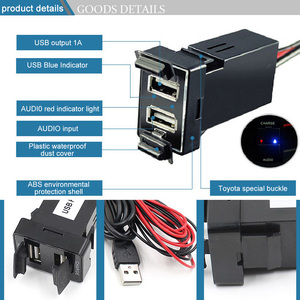 Image 3 - Dual USB Âm Thanh Xe Hơi Dành Cho Xe Toyota 5V 2.1A USB Adapter Sạc Dành Cho Điện Thoại Di Động Dẫn Đường GPS Tracker USB Ổ Cắm