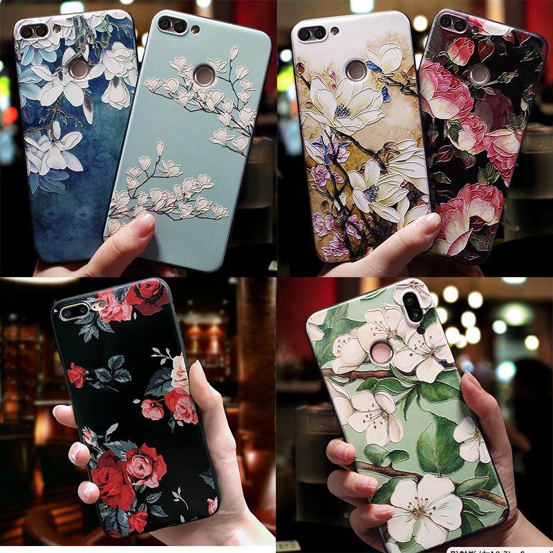3D Print Emboss Flower Phone Case For iPhone 6 6S 7 8 Plus X 5 5S 10 XR XS Max Soft TPU Capa For Xiaomi Mi A2 Lite A1 5X 6X Case