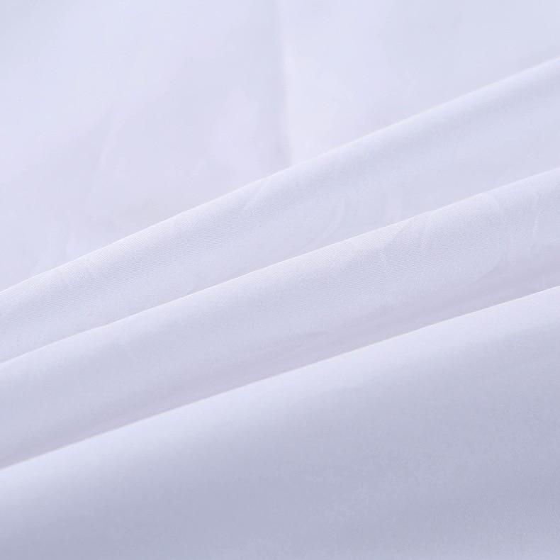 Пододеяльник защищает и покрывает Ваше одеяло/пододеяльник вставка, роскошный 100% хлопок полный размер цвет белый 4 шт набор пододеяльников - 5