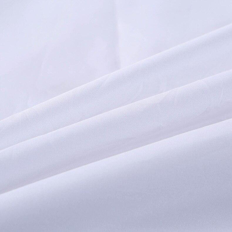 Capa de edredão Protege e Cobre o seu Consolador/Edredon Inserir, luxo 100% Algodão Tamanho Completo Cor Branca 4 peça Set Capa de Edredão - 5