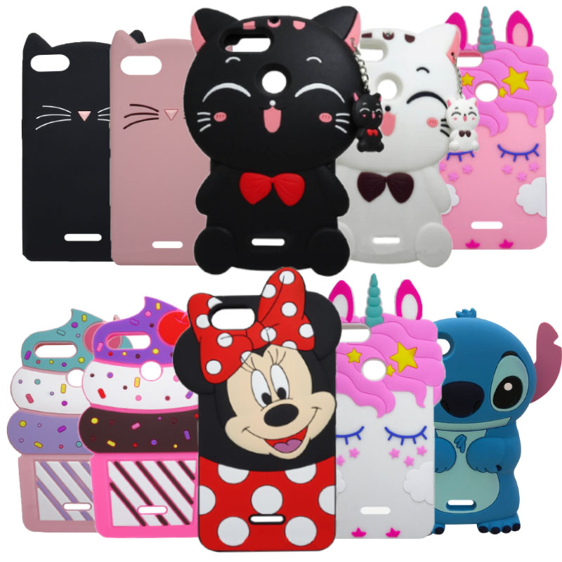 For Xiaomi Redmi 6 6A 3D Unicorn Horse Cat Minnie Silicone Back Case Cover For Xiaomi Redmi 6A 6 A 5.45 Inch Phone Coque Fundas
