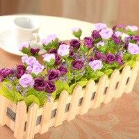 5PCS 30cm Diamond Rose Set Home Decoration Flower Flower Pot Simulation Plant Wedding Venue Layout Artificial