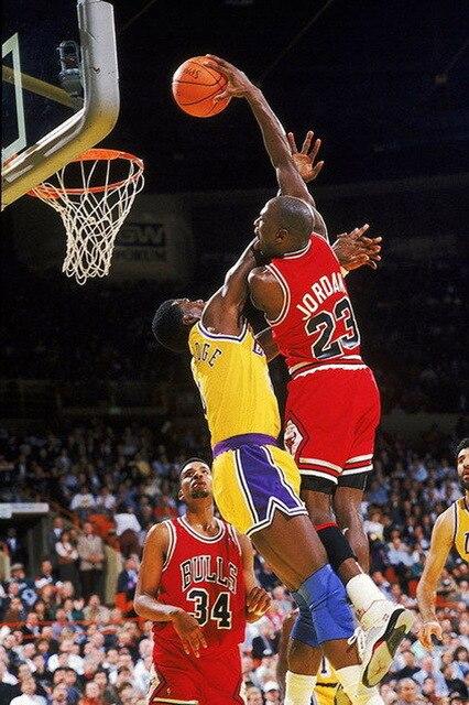 16954 Michael Jordan Slam Dunk Nba Wall Sticker Art Poster For Home