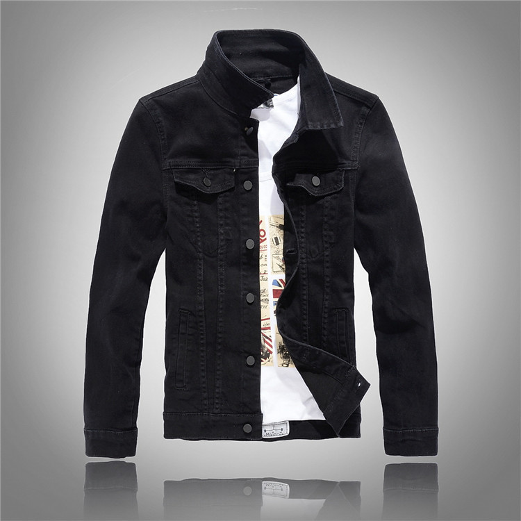 buy 2017 hot slim mens cotton jackets and coats casual denim jacket men veste. Black Bedroom Furniture Sets. Home Design Ideas