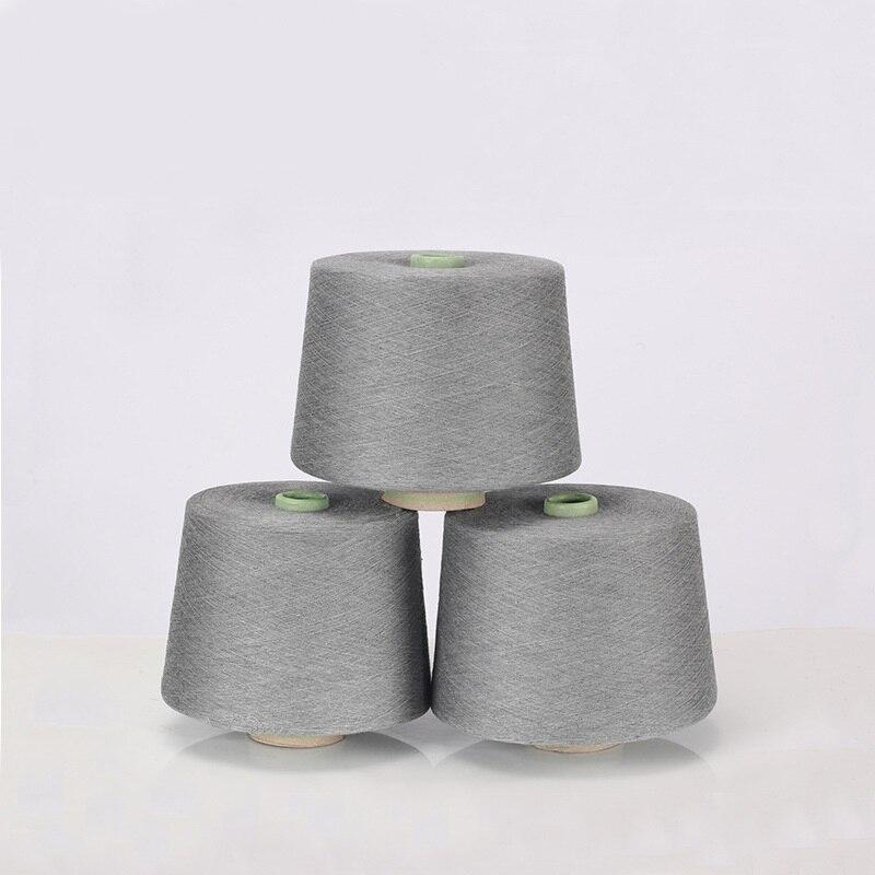 Fil à coudre en coton peigné gris foncé et fiber d'argent fil textile 32 s antistatique (90% fiber de coton + 10% fiber d'argent)