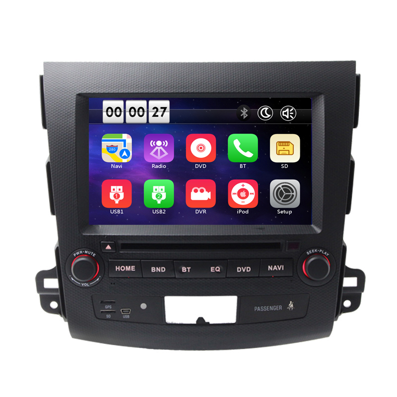 8 font b Car b font DVD Player GPS Navigation System for Mitsubishi Outlander 2007 2008
