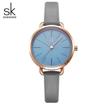 Shengke New Women Fashion Watches Top Brand Luxury Quartz Women Leather Wrist Watch Reloj Mujer 2019 SK Ladies Watches #K8021 image