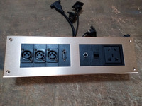 HD HDMI Socket \ XLR RJ45 3 3.5 AUDIO wall socket /Aluminum alloy /multimedia home hotel rooms KTV wall socket TY W12