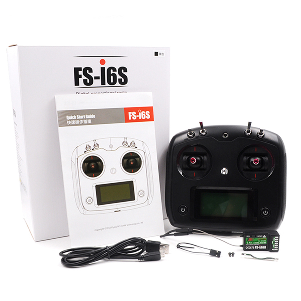 FS-I6S Radio Control with FS-IA10B Receiver 10CH Touchscreen for RC Airplane Quadcopter Multirotor FPV Drone Glider Fixed wing fpv wireless 5 8g 48ch rd945 dual diversity receiver with a v and power cables for fpv racing drone rc airplane toys part