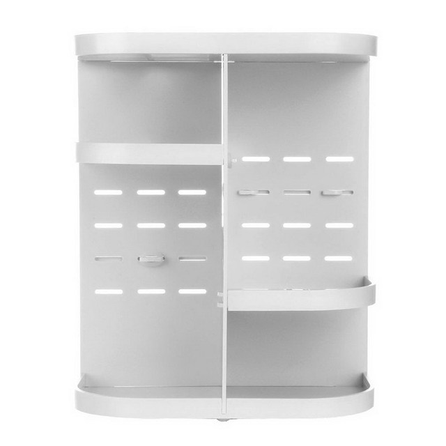 2016 New Arrival 360 degree rotating Makeup Case Drawers Cosmetic Organizer Jewelry Storage Acrylic Cabinet Box White #BSEL