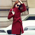 New 2017 Women Cashmere Coat Fashion Long Slim Warm Outerwear Clothes High Quality Woolen Autumn Winter Coat Women Trench Coats