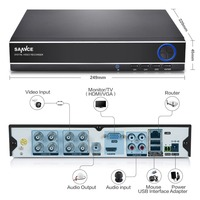 New SANNCE 8CH 4IN1 1080N CCTV DVR Security System Full D1 H 264 HDMI P2p Cloud