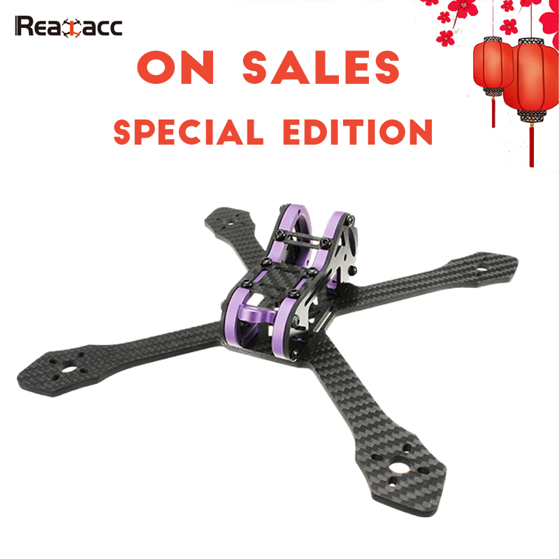 Special Edition Realacc Purple215 215mm 4mm Arm Thickness Carbon Fiber DIY RC Racing Frame Kit For FPV Racer Drones Quadcopter rc drones quadrotor plane rtf carbon fiber fpv drone with camera hd quadcopter for qav250 frame flysky fs i6 dron helicopter