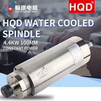 HQD2.2 4.4kw spindle GDK100 12 24Z 2.2 4.4kw constant power mold water cooled high speed CNC metal carving and milling spindle