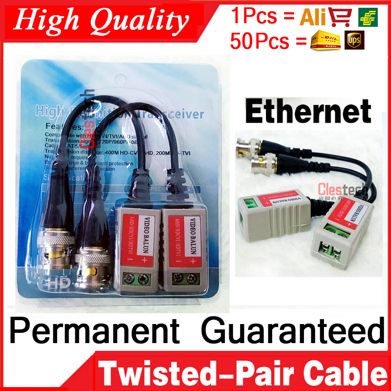 1pcs/lot Passive Twisted-pair Transmitter 300 Meters Anti-interference Video Transmitter Monitoring Video BNC Cable Connector