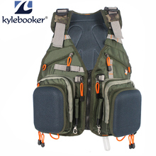 Регулируемый мужской жилет для ловли нахлыстом, многофункциональные карманы, для охоты, рыбалки, сетчатый жилет, рюкзак, сумка для рыбной ловли