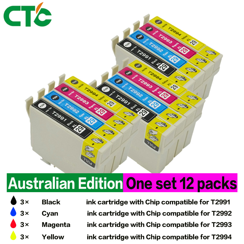 12x Epson 29 XL T29XL T2991 Ink Cartridges Compatible for Epson XP235 XP-332 XP-335 XP432 XP-435 printer inkjet 10pcs for epson dx5 uv printer ink damper for epson stylus proll 4000 4800 7400 7800 9800 9400 9450 flat printer uv ink damper
