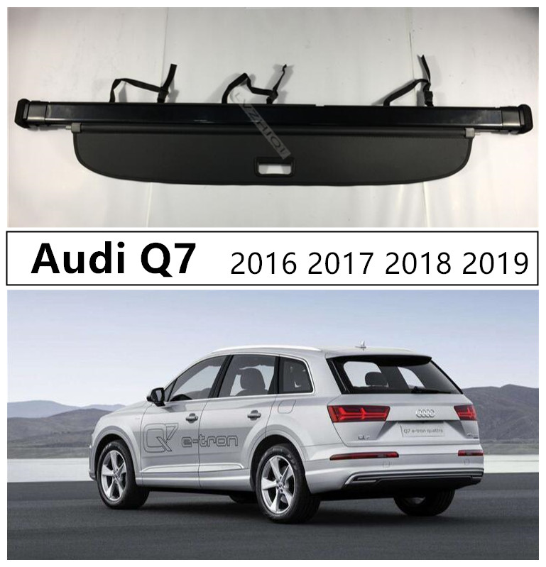 For Audi Q7 2016 2017 2018 2019 Rear Trunk Cargo Cover