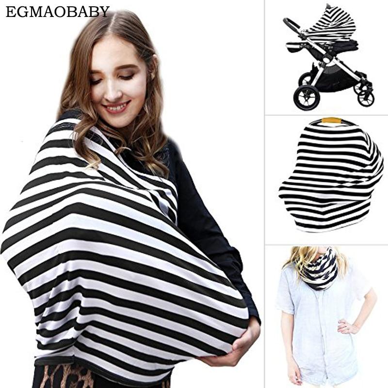 Newborn Baby Nurse garment Materity Cotton Nursing Cover Women Udder Covers Breast feeding Baby Blanket Baby Stretchy Car Seat