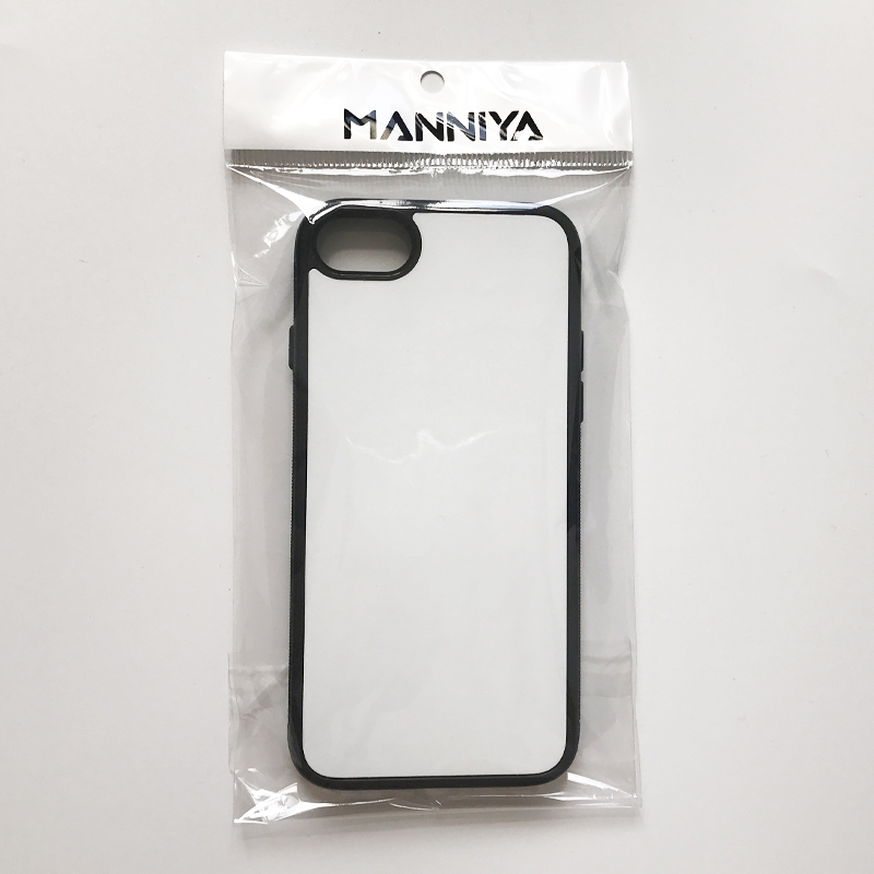 Image 4 - MANNIYA 2D Sublimation Blank rubber TPU+PC Case for iphone 7 8 with Aluminum Inserts and tape Free Shipping! 100pcs/lot-in Fitted Cases from Cellphones & Telecommunications