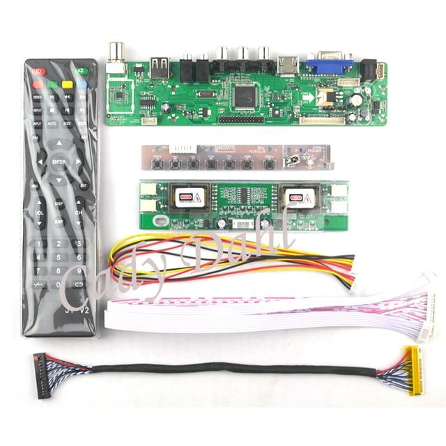 "HDMI CVBS de RF USB VGA AV TV Placa de controlador para 19 ""M190A1-L0A M190A1-L02 M190PW01 V0 LM190WX1-TLC1 1440X900 Panel LCD de matriz"
