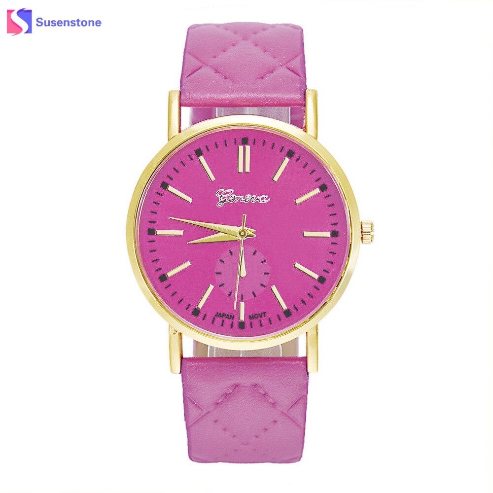 add156eae7b Relógios Das Mulheres Relógio de luxo da Manta de Couro PU Banda Analógico  Relógio de Pulso de Quartzo Moda Senhoras Relógio Feminino Projetado Novo  Relogio ...