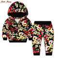New Girls Clothing Set Flower Girls Tracksuits [ Hooded + Pants]