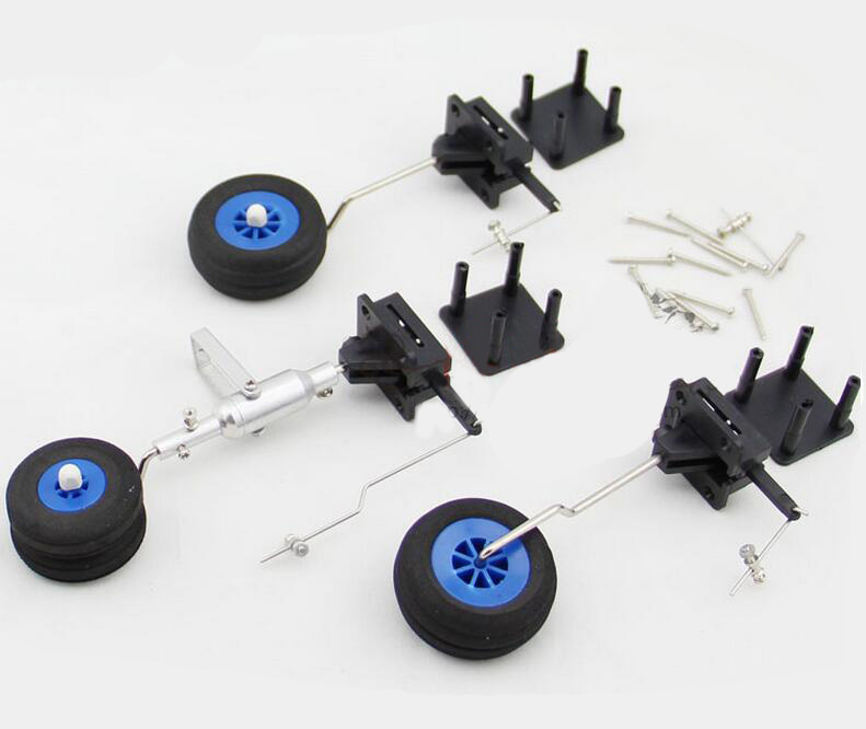 Free Shipping Electric retractable landing gear wheel steering wheel for RC Airplane aircraft spare parts (Servo not included)
