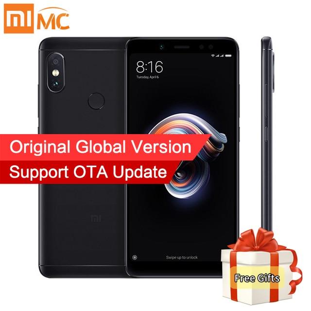 "Global Version Original Xiaomi Redmi Note 5 3GB 32GB MIUI9.5 Mobile Phone Snapdragon 636 Octa Core 5.99"" 18:9 Screen Dual Camera"