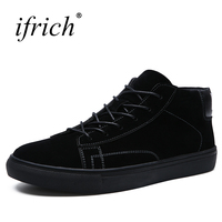 Ifrich New Designer Shoes For Men Lace Up Luxury Sneaker Black Khaki Branded Spring Summer Casual