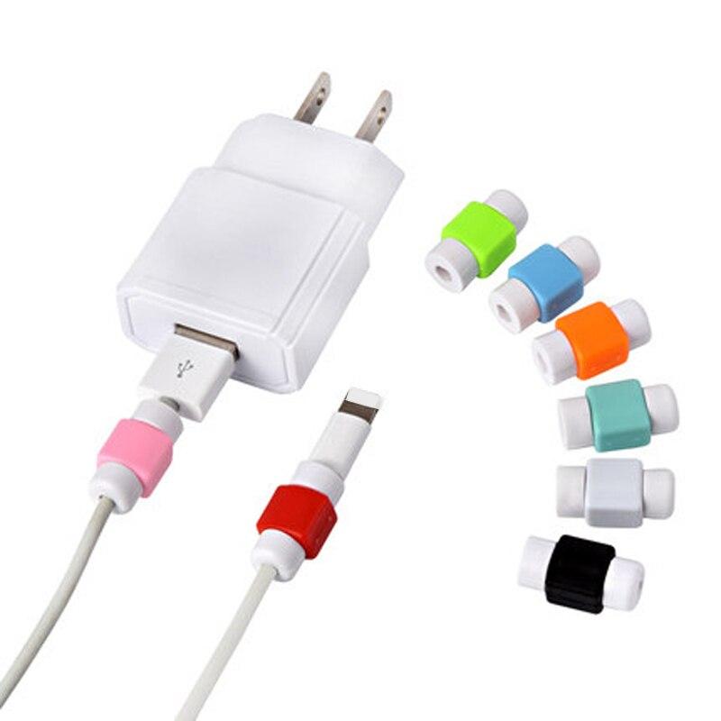 imágenes para 100 UNIDS 4S Lindo USB Cable Cargador Protector de La Cubierta Del Caso para el iphone 5 5S sí 5c Teléfono 6 6 s más 7 más Cable de Carga Cabo accesorios