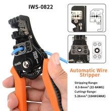 Automático wire stripper Stripping Alicates cortadores de fio de Multi função de eletricista 0.35 8.2mm ² multifuncional descascador de fios de cabo
