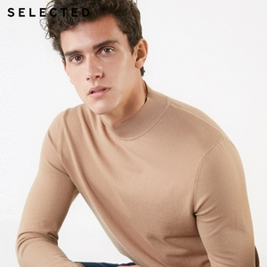 Image 3 - SELECTED Mens Pure Color Pullovers Turtleneck Base Knitted Autumn Sweater Clothes S