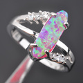 Perfect Pink Fire Opal Cubic Zirconia For Women 925 Silver Jewelry Ring Size 6 7 8 9 Free Shipping MP022