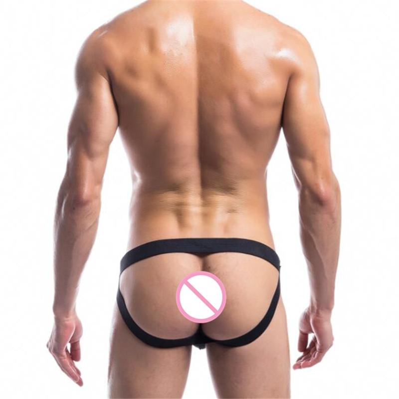 Topdudes.com - Men's Comfortable Breathable Laced Up Jockstrap Underwear