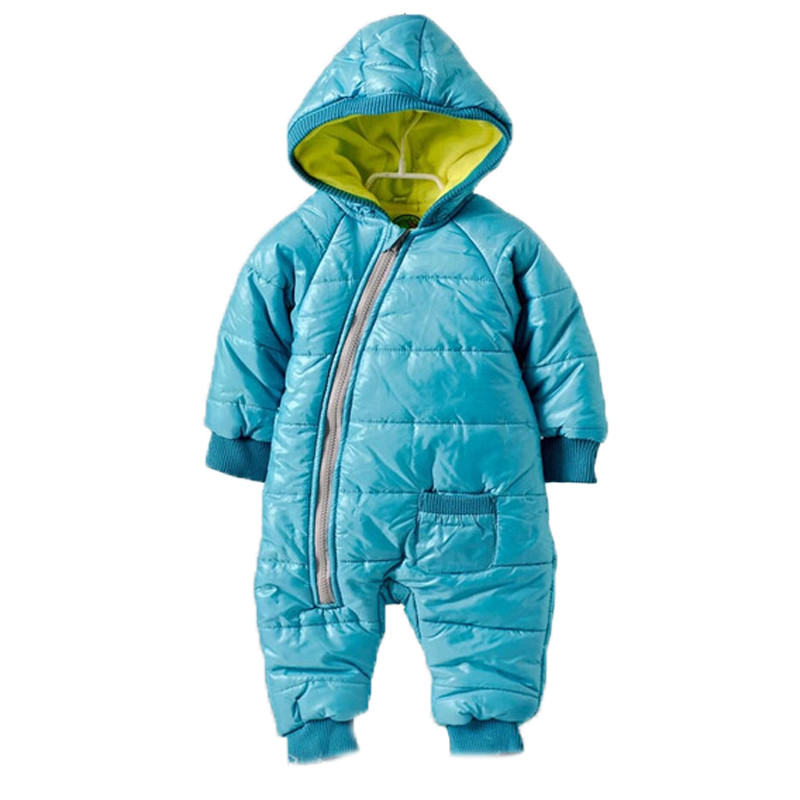 Kids Warm Jumpsuit Children Cotton Padded Infant Puffer Jacket Coat Siamese Newborn Baby Rompers Climbing Clothing Sets Overall