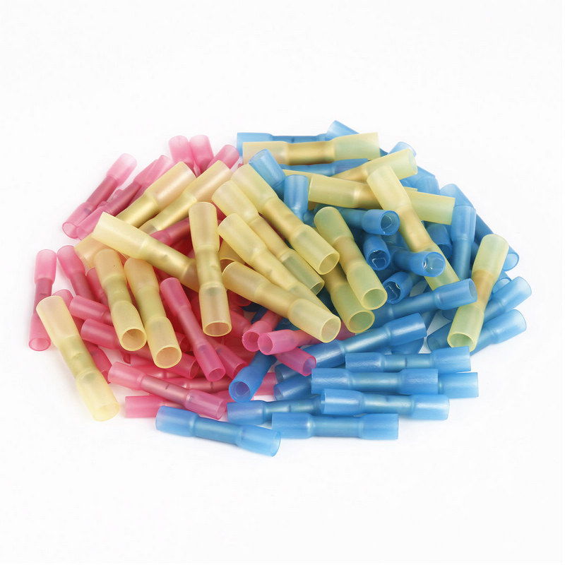 50pcs New Mixed Heat Shrink Butt Terminal High Quality Electrical Heat Shrink Butt Wire Cable Crimp Connector 50pcs mixed heat shrink butt terminal high quality electrical heat shrink butt wire cable crimp connector 3 color