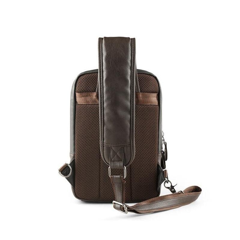 Image 5 - Brand Men's Shoulder Bag Vintage Men Crossbody Bag Men Chest Bags Casual Fashion PU Leather Men Messenger Bag L51-in Crossbody Bags from Luggage & Bags