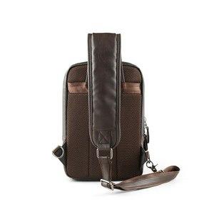 Image 5 - Brand Mens Shoulder Bag Vintage Men Crossbody Bag Men Chest Bags Casual Fashion PU Leather Men Messenger Bag L51