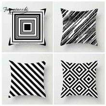 Fuwatacchi Geometric Style Cushion Cover Arrow Plain Dot Wave Printed Pillow Cover Black White Decorative Pillows For Sofa Car цены