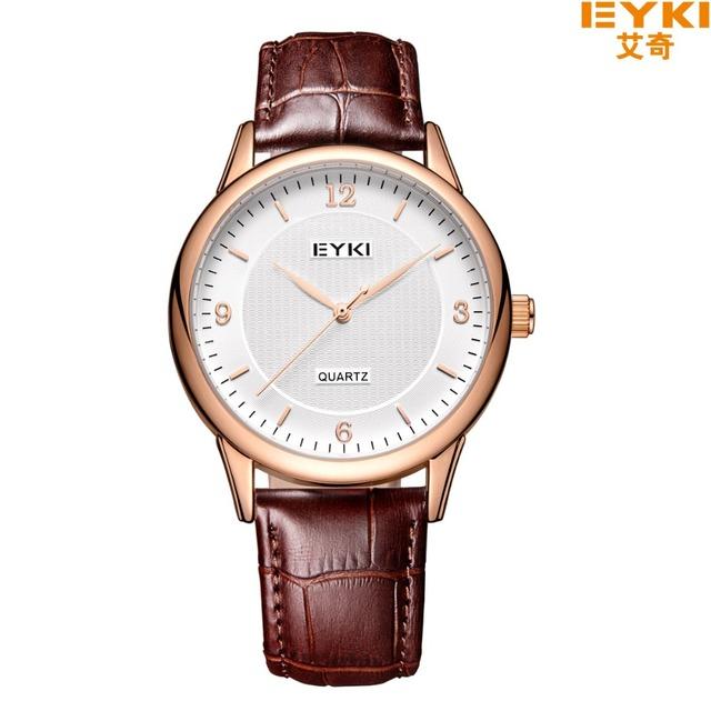 Amantes casais eyki relógio marca de luxo relógio relogio feminino relógio de pulso de quartzo das mulheres dos homens de couro à prova d' água